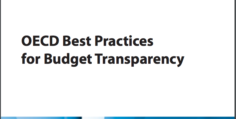 OCDE - Best Practices Budget Transparency